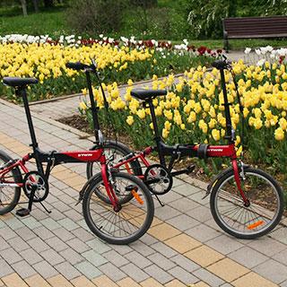 складной городской взрослый велосипед hoptown btwin декатлон